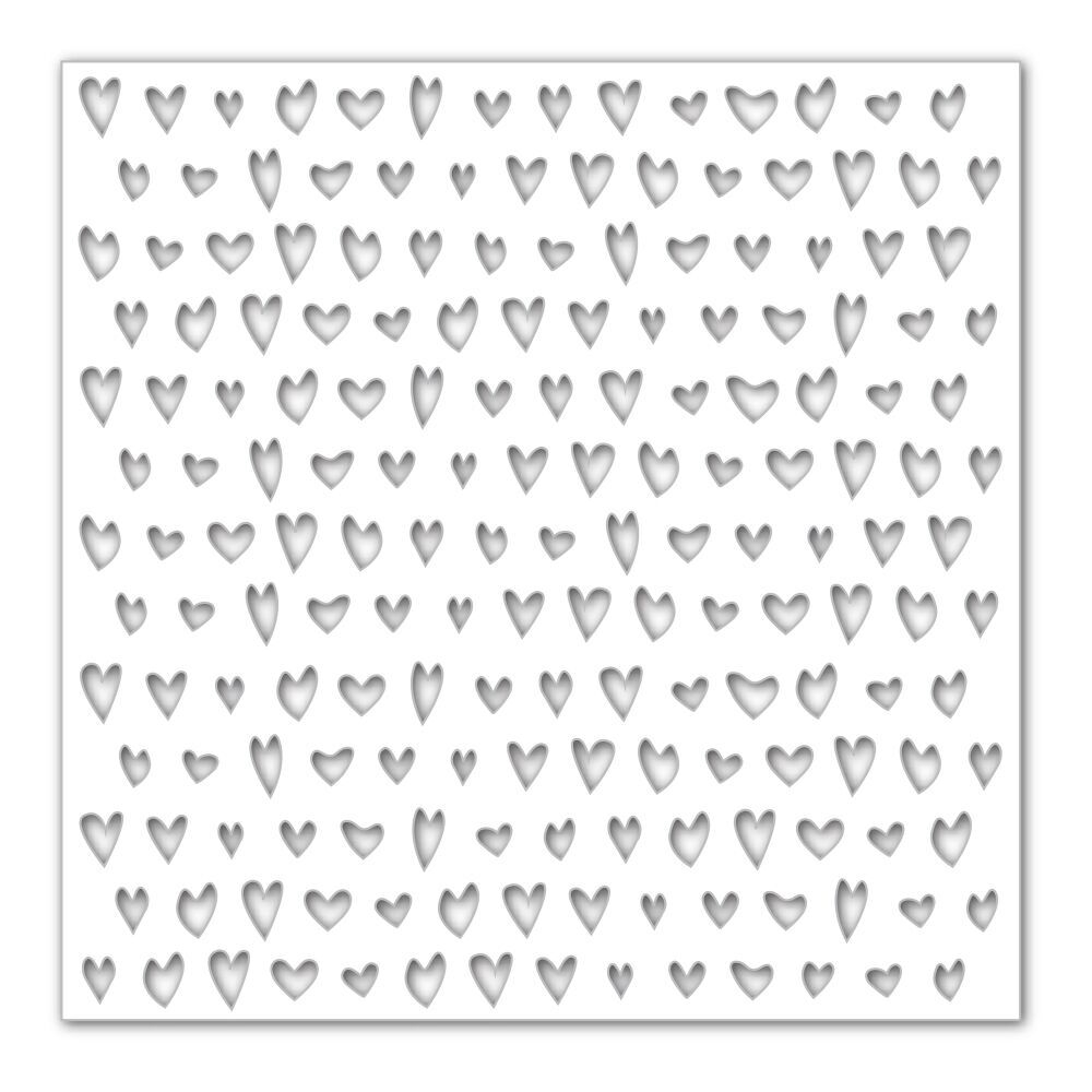 Simon Says Stencils DRAWN HEARTS SSST121389 Hey Love zoom image
