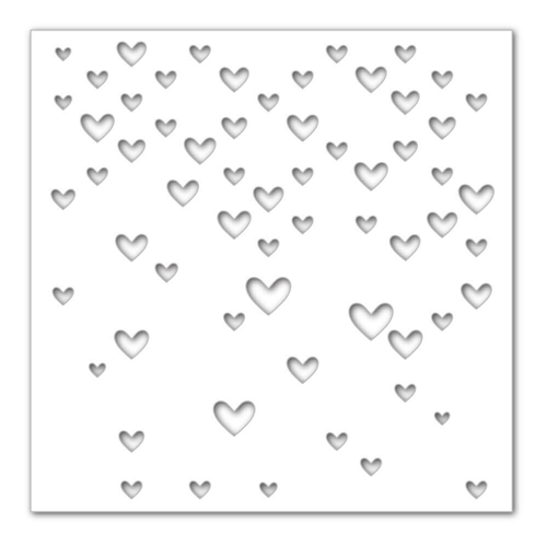 Simon Says Stencils LARGE FALLING HEARTS SSST121390 Hey Love Preview Image