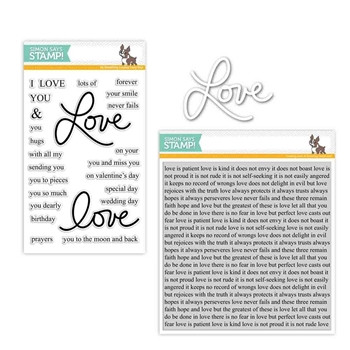 Simon Says Stamps And Dies LAURA'S LOVE Set286LL Hey Love