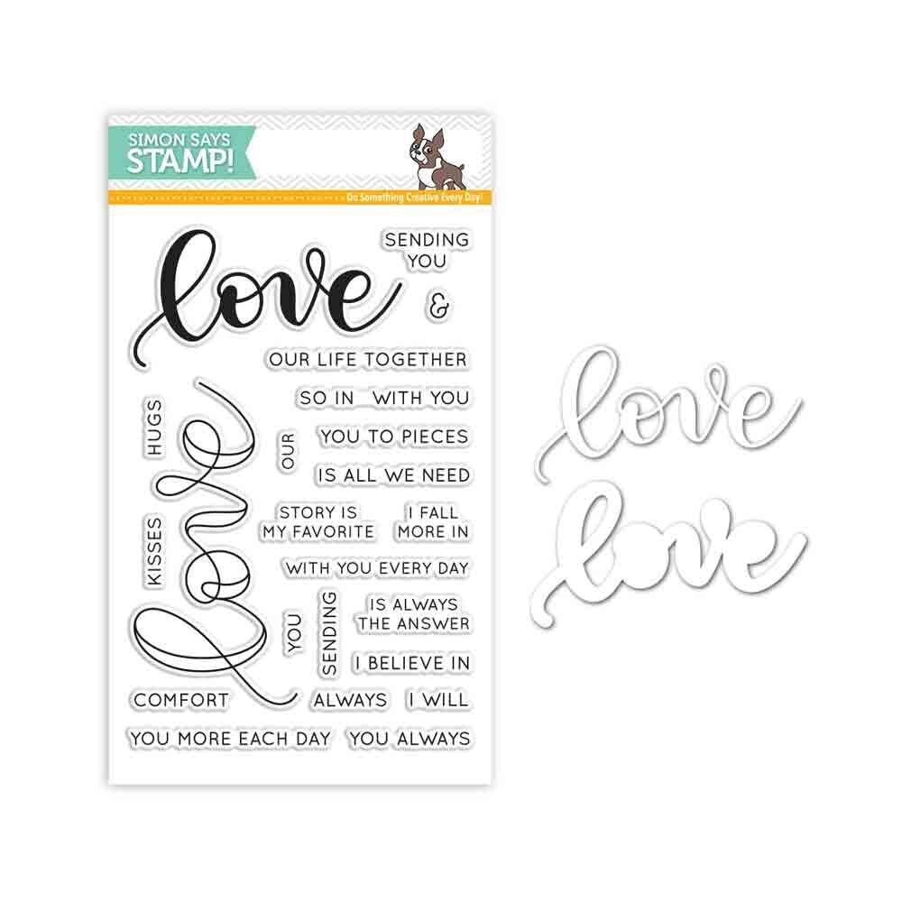 Simon Says Stamps And Dies KRISTINA'S LOVE Set287KW Hey Love zoom image
