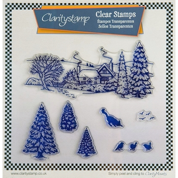Claritystamp WINTER CAT SCENE Clear Stamps STAWI10492XX