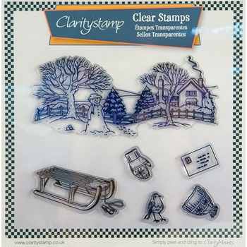 Claritystamp WINTER SLED SCENE Clear Stamps STAWI10491XX