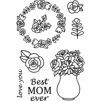 Jane's Doodles MOM Clear Stamp Set 742859