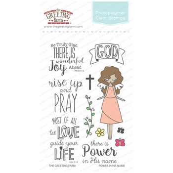 The Greeting Farm POWER IN HIS NAME Clear Stamps TGF287