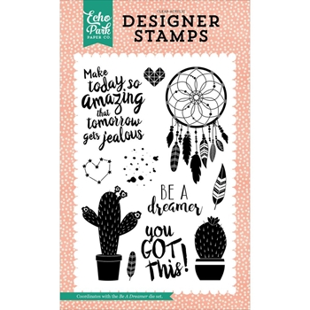 Echo Park BE A DREAMER Clear Stamps JBY119049