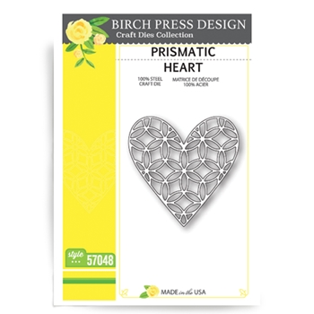 Birch Press Design PRISMATIC HEART Craft Die 57048