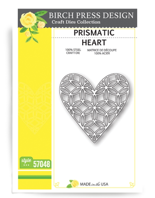 Birch Press Design PRISMATIC HEART Craft Die 57048 zoom image