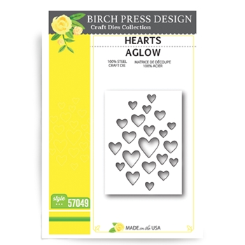 Birch Press Design HEARTS AGLOW Craft Die 57049