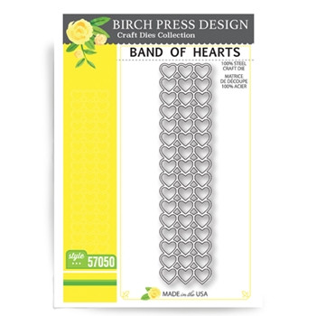 Birch Press Design BAND OF HEARTS Craft Die 57050