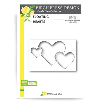Birch Press Design FLOATING HEARTS Craft Die 57054