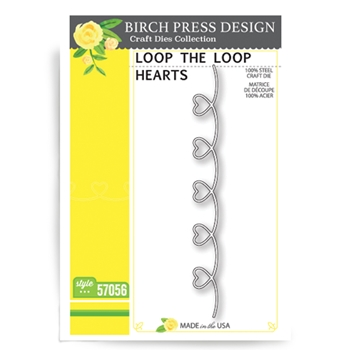 Birch Press Design LOOP THE LOOP HEARTS Craft Die 57056