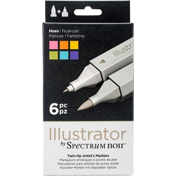 Crafter's Companion HUES Illustrator Spectrum Noir Markers SPECNIL6HUE*
