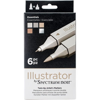Crafter's Companion ESSENTIALS Illustrator Spectrum Noir Markers SPECNIL6ESS