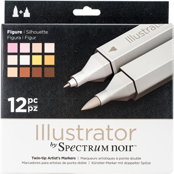 Crafter's Companion FIGURE Illustrator Spectrum Noir Markers SPECNIL12FIG