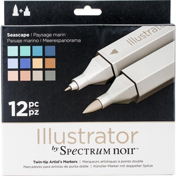 Crafter's Companion SEASCAPE Illustrator Spectrum Noir Markers SPECNIL12SEA