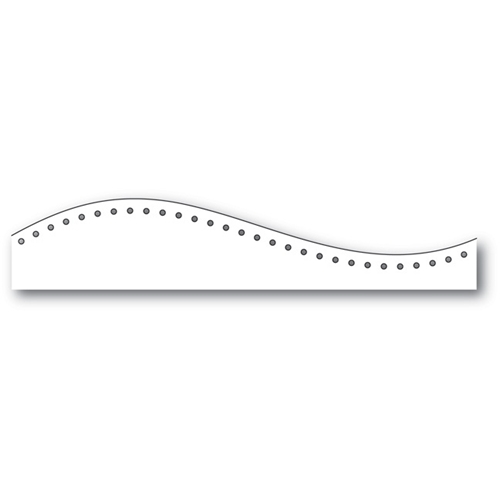 Memory Box Dotted Curved Border Die