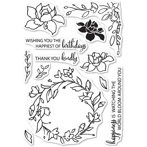 Memory Box Clear Stamps WATCHING THE WORLD BLOOM Open Studio CL5197 Preview Image