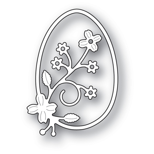 Memory Box SPRINGTIME FLORAL EGG Craft Die 99680 Preview Image