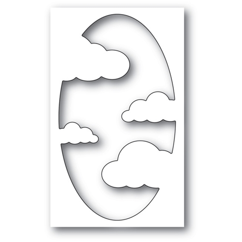 Memory Box COOL CLOUD COLLAGE Craft Die 99700 Preview Image