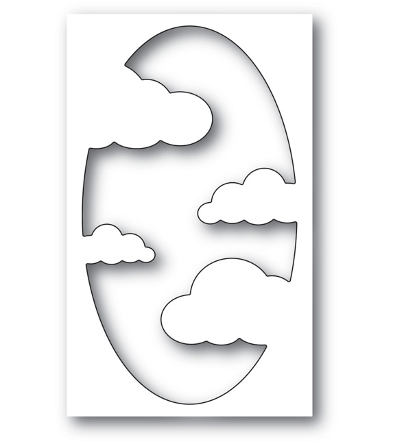 Memory Box COOL CLOUD COLLAGE Craft Die 99700 zoom image