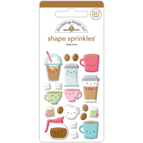 Doodlebug LATTE LOVE Sprinkles Shapes Cream and Sugar 5456 Preview Image