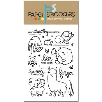 Paper Smooches COURTEOUS CUTIES Clear Stamps J1S276