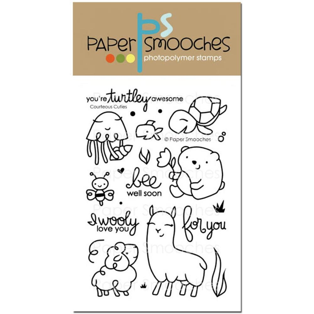 Paper Smooches COURTEOUS CUTIES Clear Stamps J1S276 zoom image