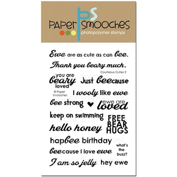 Paper Smooches COURTEOUS CUTIES 2 Clear Stamps J1S277