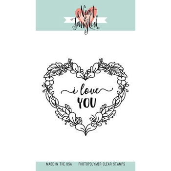 Neat and Tangled FLORAL HEART Clear Stamp Set