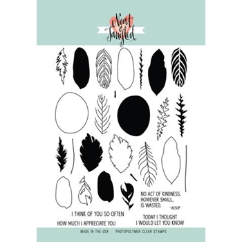 Neat and Tangled CALATHEA Clear Stamp Set