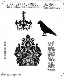 Tim Holtz Cling Rubber Stamps BIRDS and BAUBLES CMS039  zoom image