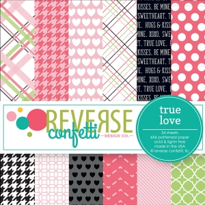 Reverse Confetti TRUE LOVE 6x6 Inch Paper Pad Preview Image