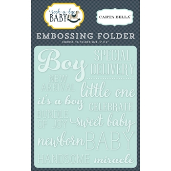 Carta Bella LITTLE ONE BOY Embossing Folder CBRBB64031