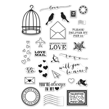 Hero Arts Clear Stamps LOVE NOTES Set CM149