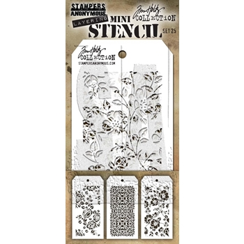 Tim Holtz MINI STENCIL SET 25 MST025