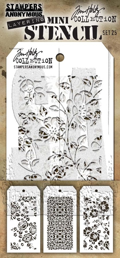Tim Holtz MINI STENCIL SET 25 MST025 zoom image