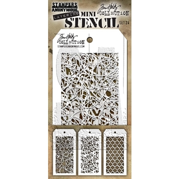 Tim Holtz MINI STENCIL SET 24 MST024
