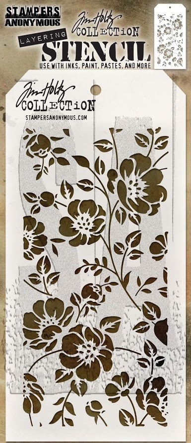 Tim Holtz Layering Stencil FLORAL THS077 zoom image