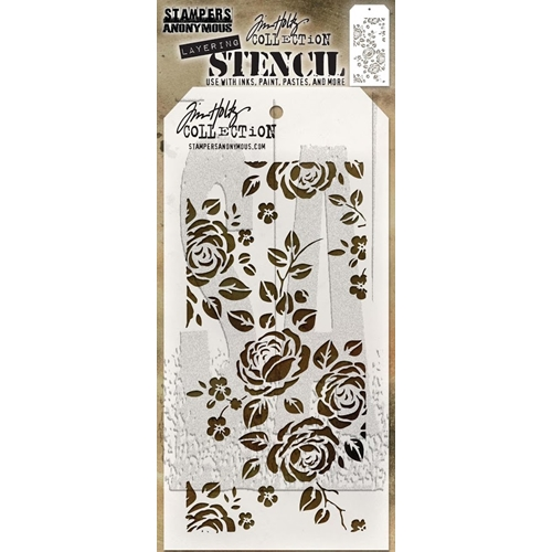 Tim Holtz Layering Stencil ROSES THS075 Preview Image