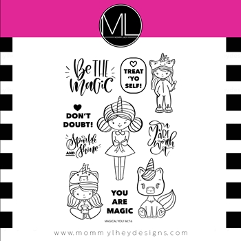 Mommy Lhey MAGICAL YOU Clear Stamp Set MLD168