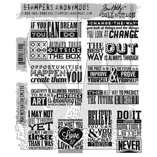 Tim Holtz Cling Rubber Stamps 2017 MINI MOTIVATION CMS292 Preview Image