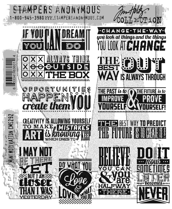Tim Holtz Cling Rubber Stamps 2017 MINI MOTIVATION CMS292 zoom image