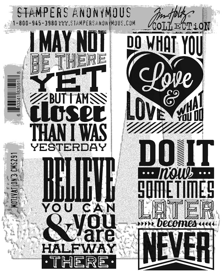 Tim Holtz Cling Rubber Stamps 2017 MOTIVATION 3 CMS291 zoom image