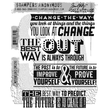 Tim Holtz Cling Rubber Stamps 2017 MOTIVATION 2 CMS290