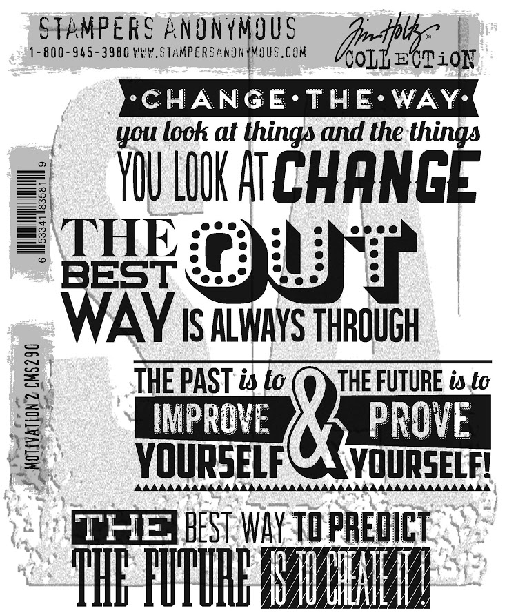 Tim Holtz Cling Rubber Stamps 2017 MOTIVATION 2 CMS290 zoom image