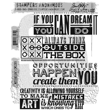 RESERVE Tim Holtz Cling Rubber Stamps 2017 MOTIVATION 1 CMS289