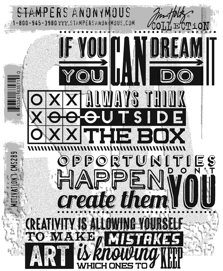 Tim Holtz Cling Rubber Stamps 2017 MOTIVATION 1 CMS289 zoom image
