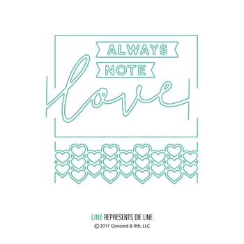 Concord & 9th LOVE ALWAYS FRAME Dies 10160C9