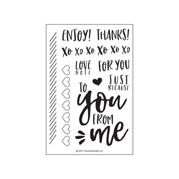 Concord & 9th LOVE NOTES Clear Stamp Set 10158C9