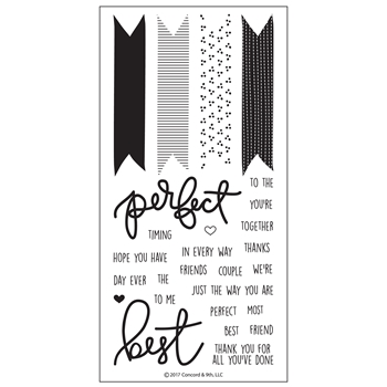 Concord & 9th BEST BANNERS Clear Stamp Set 10155C9